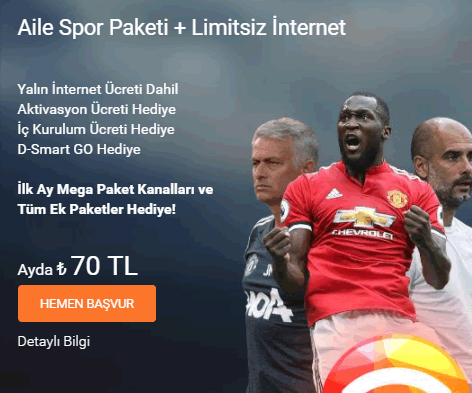 D-smart spor paketi ve internet birarada